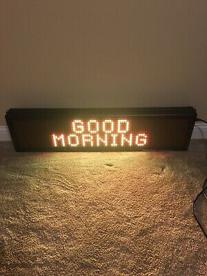 Signtronix Led Indoor Sign 16x80 Led-40-2-sx With Guru Media Software
