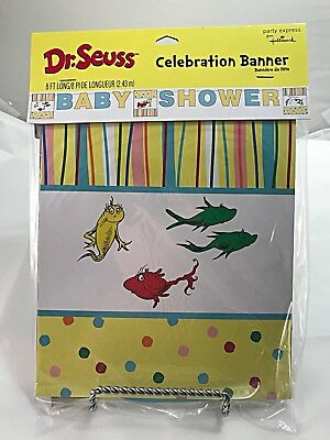 Dr. Seuss Celebration 8 Foot Baby Shower Banner Seuss Baby Shower Decor 1HNG3598