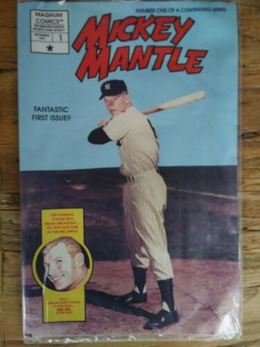 Lot Of 10 Mickey Mantle Comic Book Issue #1 Factory Sealed With Postcards