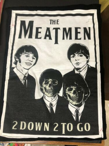 THE MEATMEN 2 DOWN 2 TO GO BACKPATCH GLOWS IN DARK PUNK TESCO VEE