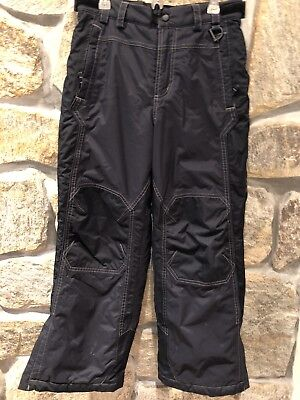 1d847dbd41 LL Bean waterproof snow pants kids youth 10 black ski snowboard insulated