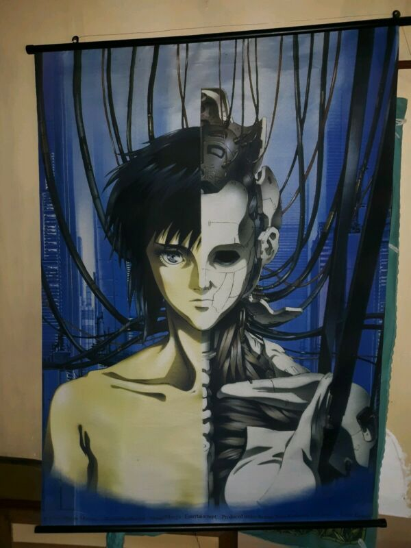 Shirow Masamune 1995 GHOST IN THE SHELL Japanese ANIME BANNER  VINTAGE?