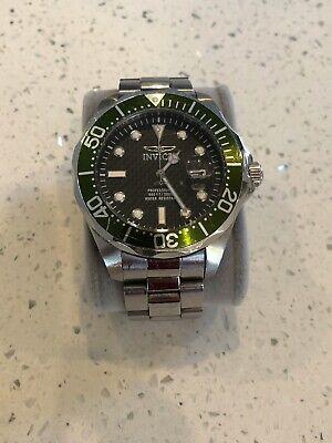 Invicta 3047 Men's Black Dial Green Bezel Grand Diver Watch For Men