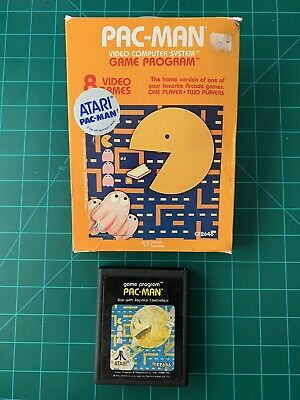 Pac-Man (Atari 2600, 1982) Box and Game Only (In Box Protector)