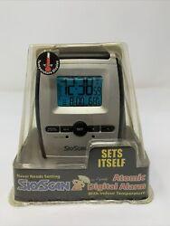 SKYSCAN Digital Atomic Desk Wall Clock w/Temperature & Calendar - NEW IN PACKAGE