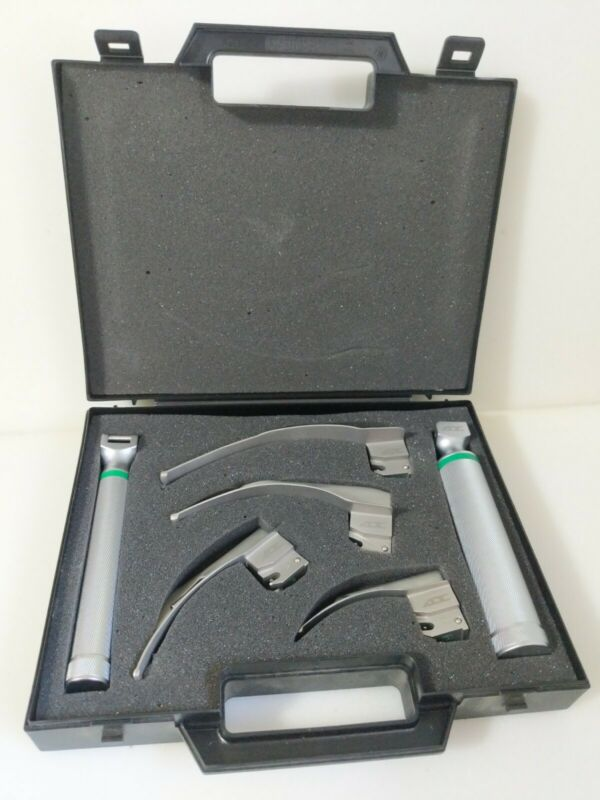 ADC Laryngoscope Blades And Handles Kit MAC 1,2,3, & 4 Included