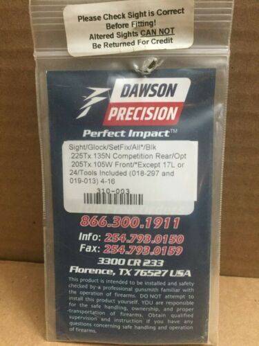 Dawson Precision Sights Various Models you choose