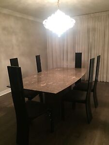 Real marble table Dining set