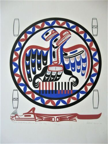 American Native Canadian Silkscreen LA HAL Serigraph Open Pacific Graphics 1982