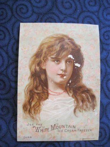 Victorian Trade Card F.A. Walker Boston White Mountain Freezer Ice Cream  40
