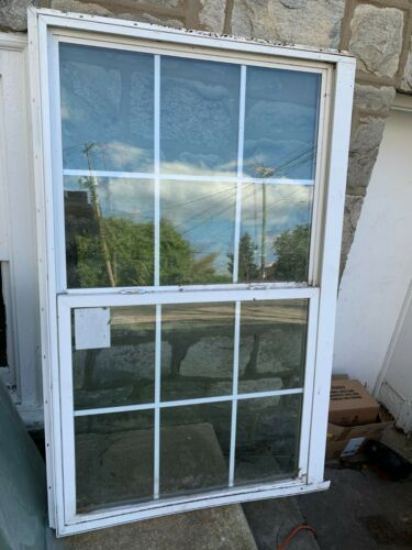 1 Vinyl Single Hung Insulated Double Pane Glass Window 37X60 LOCAL PICK UP ONLY