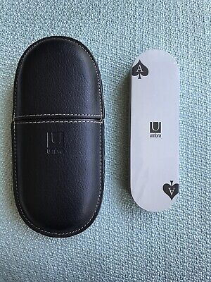 Umbra Oval Lux Playing Cards With Black Leather Case New NIP