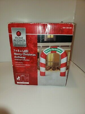 7ft 6in home accents LED Merry Christmas Archway inflatable (F8)