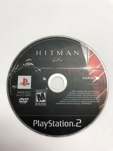 Hitman Blood Money Disc Only Sony PlayStation 2, 2006 - European Version - $4.95