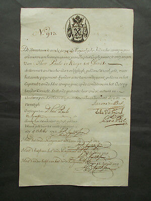 IMPERIAL TRADING (EAST INDIA) COMPANY - 1723 - SHARE CERIFICATE