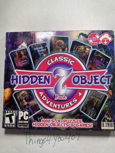 Computer Games - Classic Hidden Object Adventures 4 PC Games Windows 10 8 7 XP Computer NEW