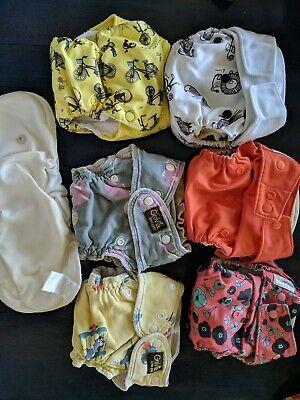 Lot Of 4 Grovia Hybrid AIO Reusable Cloth Diaper Shells + 2 grovia kiwi pies +
