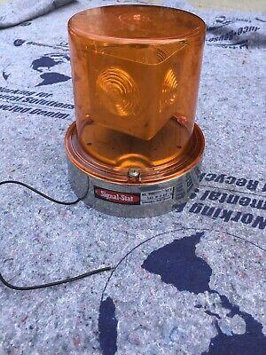 Signal-stat No. 378 Vintage Revolving Beacon Light 12v Orange Emergency Warning