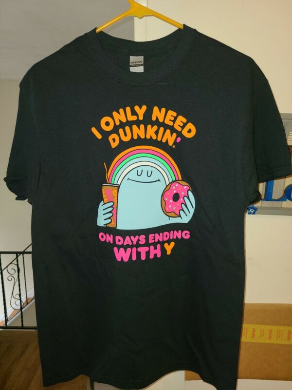 Dunkin Donuts National Coffee Day T-Shirt- M GILDAN Dunkin