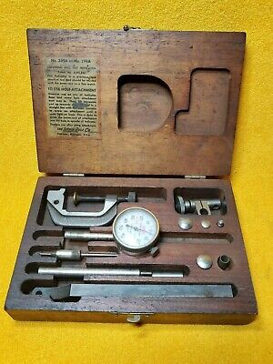 Vintage Lufkin 399a Plunger Dial Test Indicator Set In Original Box