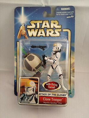 Star Wars Attack of the Clones Clone Trooper Republic Gunship Pilot Figure - New