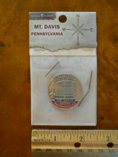 BOY SCOUT MT.DAVIS PENNSYLVANIA SUMMITEER HIKING STAFF MEDALLION #24104(NEW)