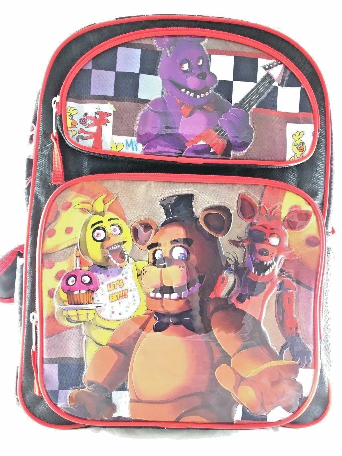 Five Nights At Freddys Large Backpack 16in Boys School Bo...