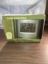Atomix Radio Controlled Clock Digital Chaney Instrument Temerature Date Time