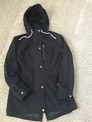 Abercrombie & Fitch Womens Nylon Parka •NEW•AUTHENTIC• Navy Blue•Medium for sale  Fontana
