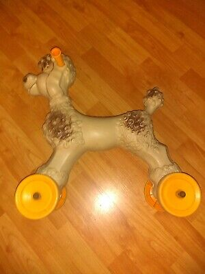 """Vintage Rare Empire Blow Mold Poodle Dog Ride On Large Toy 19"""" x 17"""""""