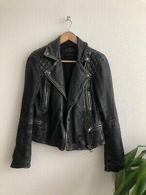 All Saints Women quilted Cargo Biker jacket UK8/ 34 36
