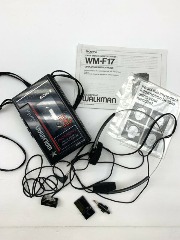 Vintage Sony Walkman Cassette Player FM Radio Recorder WM-F17 Tested Works