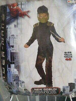 NEW GOBLIN SPIDERMAN  COSTUME DISGUISE CHILD SZ S ( 4 - 6) 50 % - Goblin Spiderman Kostüm