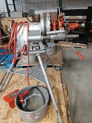 Ridgid 300 Threading Machine With Attachments Clam Shells Oiler Can
