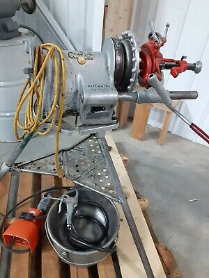 Ridgid 300-t2 Threading Machine With Attachments Oiler System Can