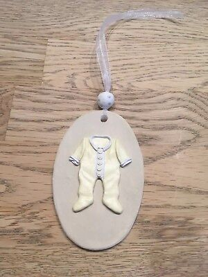 Handmade Clay Hanging Baby gift Tag/gift - Neutral Colours  New