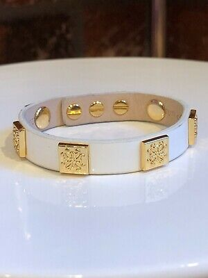 Rustic Cuff Beige Genuine Leather Adjust Wrap Bracelet With Gold Box Charms