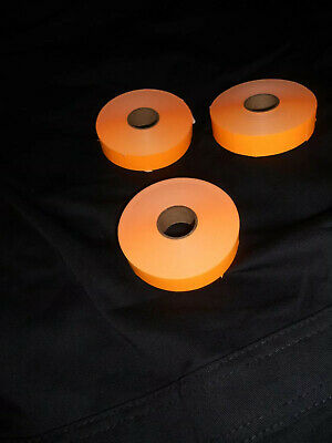 New Perco Labels For Monarch 1136 Price Gun Orange Labels Rolls Lot Of 3  Lk