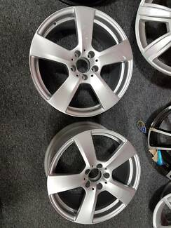 2x Genuine Mercedes E350 wheels - One front, One rear