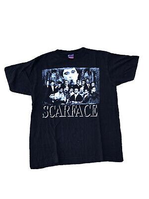 Vintage Scarface Sopranos Godfather Mafia Shirt Custom Print Size Large