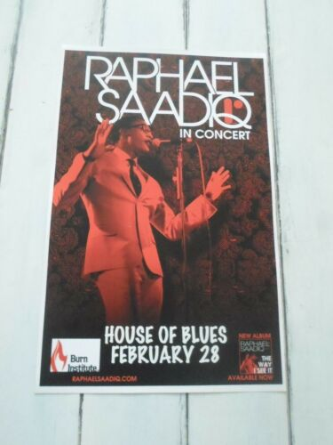 "RAPHAEL SAADIQ Concert Poster San Diego HOUSE OF BLUES 11""x17"""