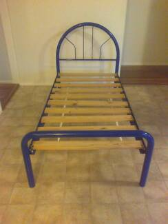 Blue tubular steel beds Glenwood Blacktown Area Preview
