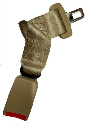 "Extension 14""  Safety Seat Belt Beige Extender Belt Extension With Buckle"