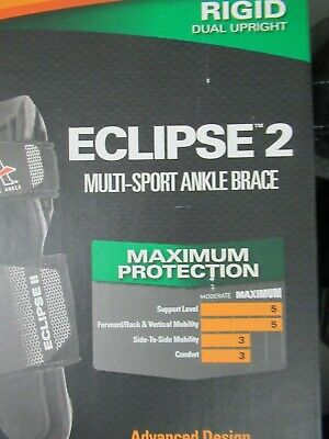 New Active Ankle Eclipse 2 II Multi-Sport Rigid Brace Fits Left or Right Small