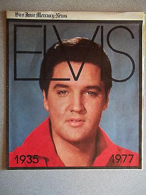 1977 Insert  San Jose Mercury News   Covers Elvis Presleys Death