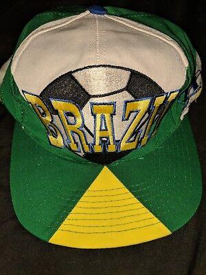 6dbf8ca46de Vintage FIFA 1994 USA World Cup Hat Snapback Cap Brazil Soccer Footbal  Futbol