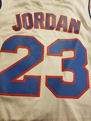 780e6ad37f75 Mens Tune Squad  23 Jordan Basketball Jerseys White Mesh Space Jam Movie  Jersey