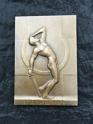 Karl Perl 1876 - 1965 II Bronzerelief II Heldentod II 1ter WK II Jugendstil 1915 online kaufen
