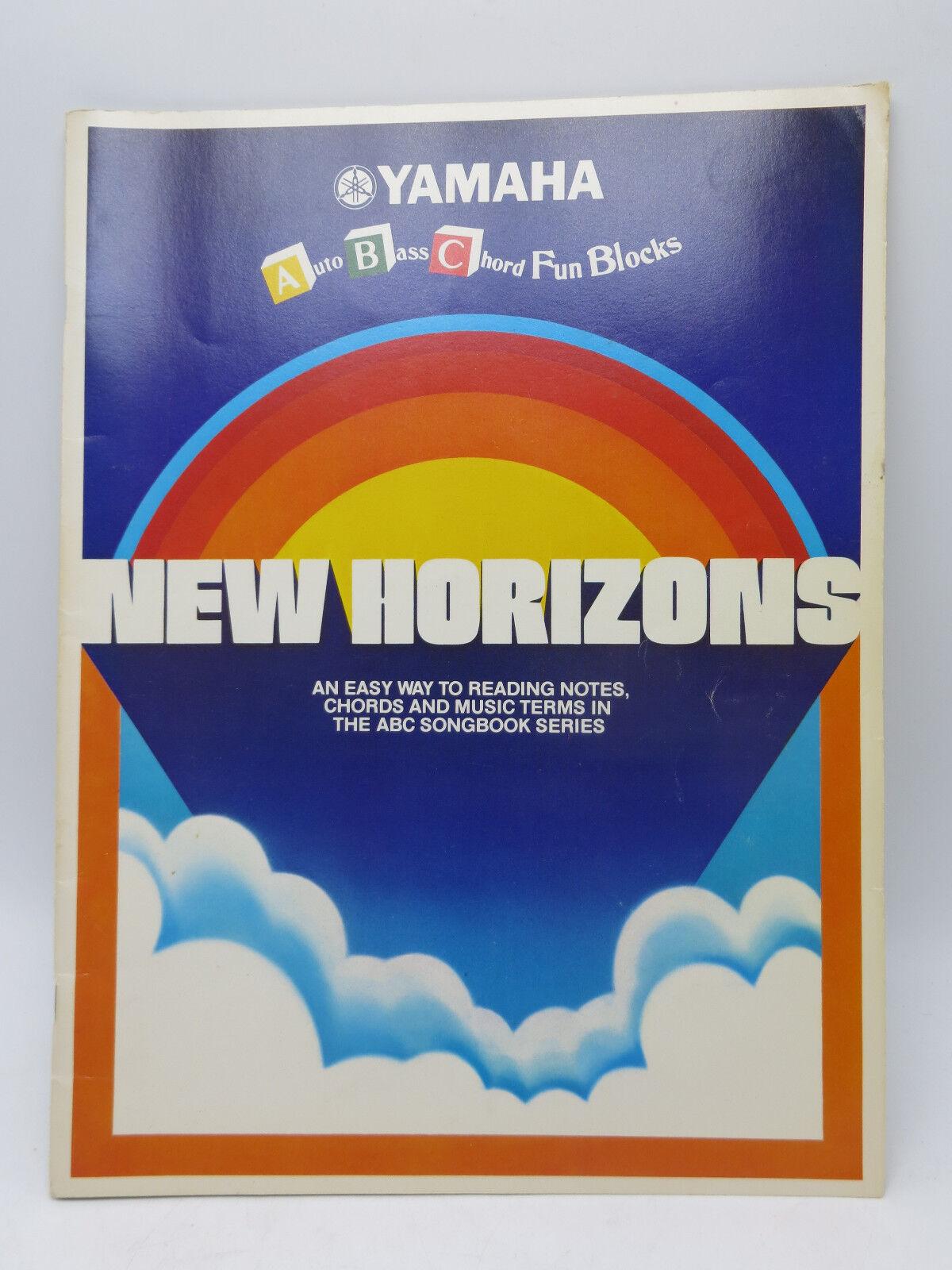 Details about Yamaha Auto Bass Chord Fun Blocks New Horizons Vintage  Paperback Organ Song Book