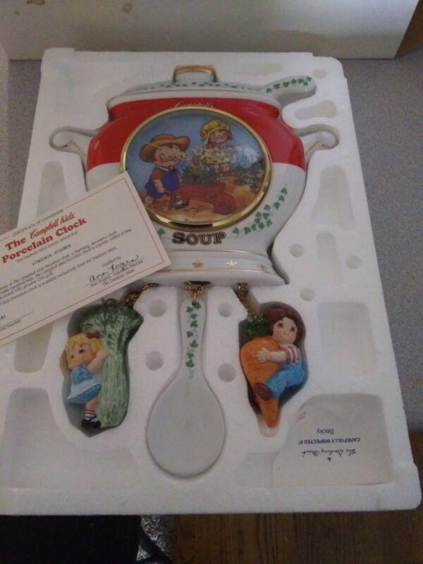 Vintage Campbell Kids Tomato Soup Wall Clock Danbury Mint 1997 NIB
